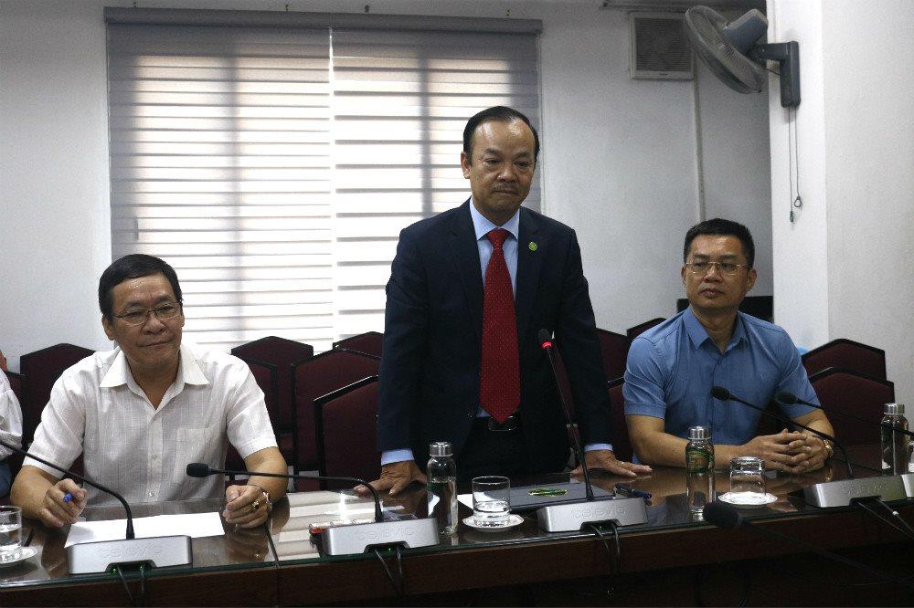 Ông Nguyễn Hữu Tiến, Tổng Giám đốc Urenco phát biểu tại Lễ ký kết