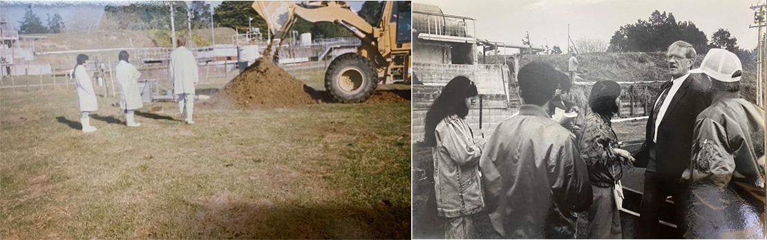 Đoàn công tác của công ty tham quan học tập tại New Zealand để triển khai dự án sản xuất phân compost VIE/86-023 (năm 1992)